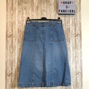 (4/$25) Breckenridge | Blue Denim-like Skirt